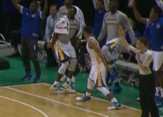 Steph Curry Shoots 3, High Fives Before It Goes In - ESPN Video