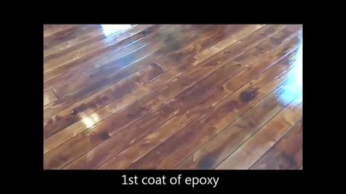 Wood Concrete - How to make concrete look like wood flooring - YouTube