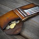 Mens Wallet with Coin Pocket. Handmade Italian Leather by Odorizzi
