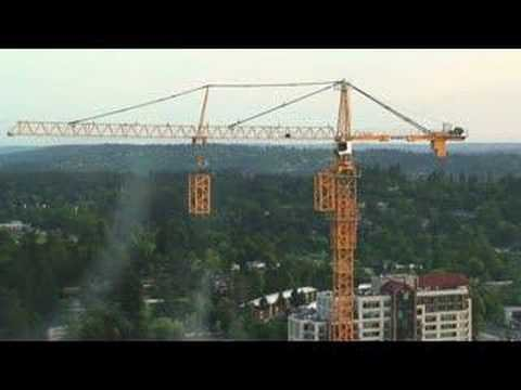 Watch a construction crane build itself