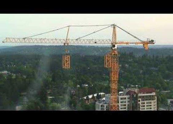Watch a construction crane build itself