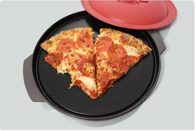 Perfectly Reheated Microwave Pizza - Reheatza Microwave Pizza Pan