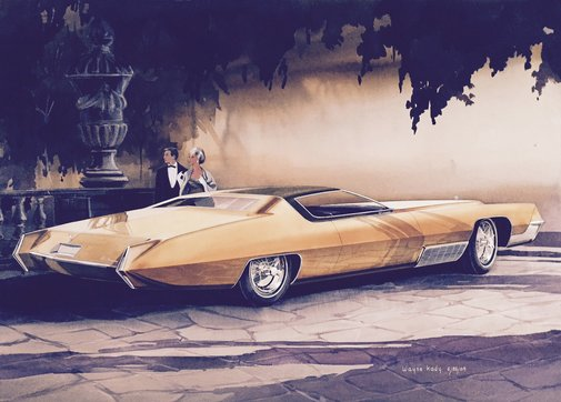 Photos: Auto sketches from Detroit's golden era you were never meant to see