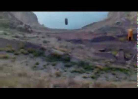Huge Tire Bouncing Downhill Into Lake - YouTube