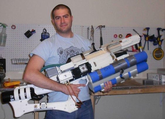 This Brilliant Maniac Built His Own Homemade Railgun