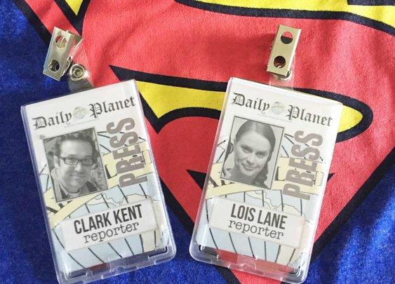 Last Minute Couple's Halloween Costume Idea: Clark Kent & Lois Lane