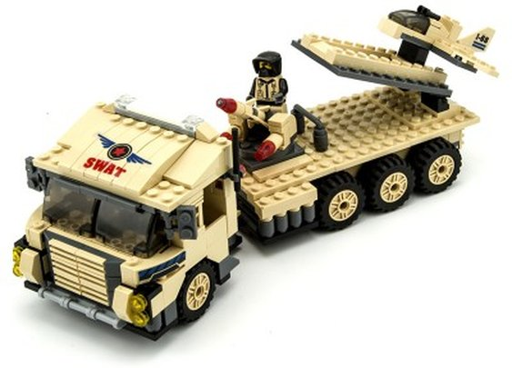 Army Truck with Drone - Lego Compatible