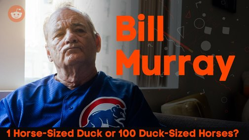 Bill Murray: Would you rather fight 1 Horse-Sized Duck or 100 Duck-Sized Horses?