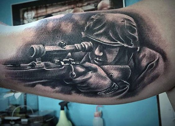 100 Military Tattoos For Men - Memorial War Solider Designs
