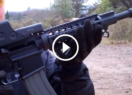 This .50 cal AR pistol has everything your life was missing