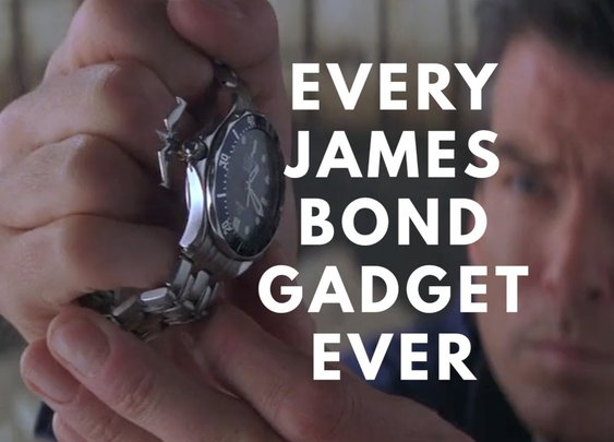 Every James Bond Gadget. Ever. - YouTube