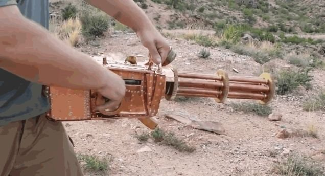 Functioning Steampunk Gatling Gun Is Pretty Outrageous