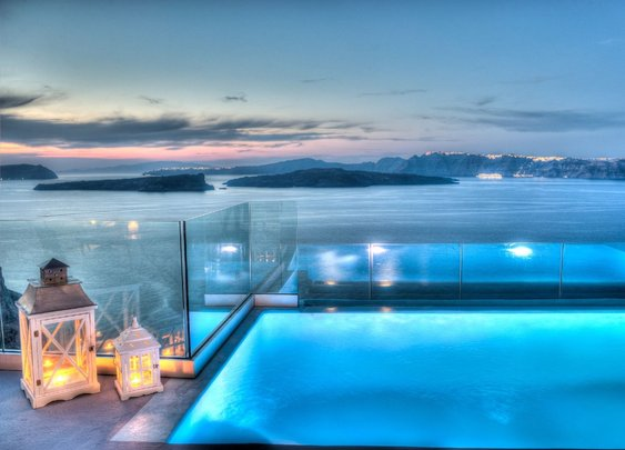 Astarte Suite with private pool in Santorini