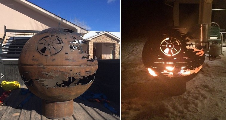 A Retired Metal Worker Created A Death Star Firepit For His Grandchildren And It Looks Amazing