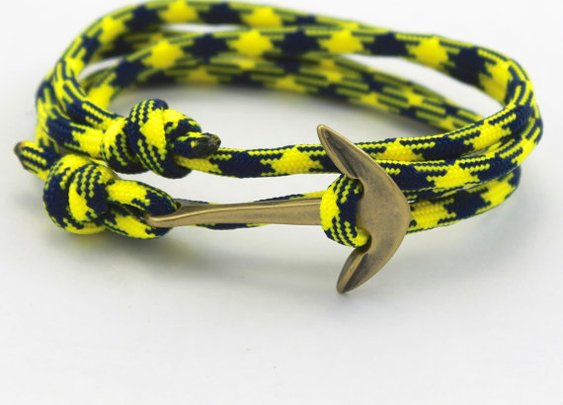 Mens Anchor Bracelet  Paracord Bracelet  Rope by DesignedTurning