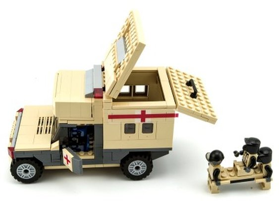 Humvee Military Ambulance - Lego Compatible