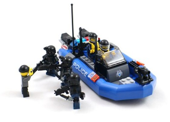 Police Boat and SWAT Minifigures - Lego Compatible