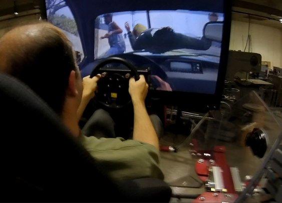 GTA V on the Force Dynamics 401cr motion platform!