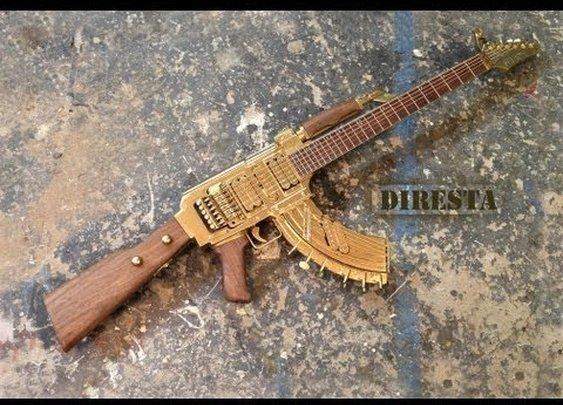 DiResta AK47 Guitar (AKA the GATTAR)
