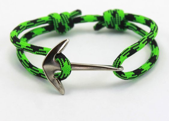 Custom Bracelet  Paracord Bracelet  Anchor by DesignedTurning
