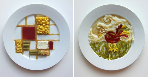 Thanksgiving Special: How 10 Famous Artists Would Plate Thanksgiving Dinner | Colossal