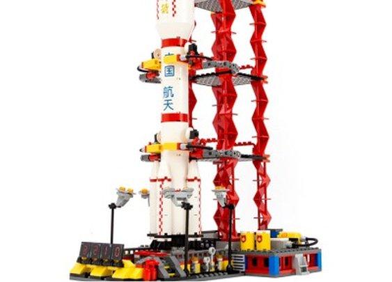 NASA Space Satellite Launch - Lego Compatible