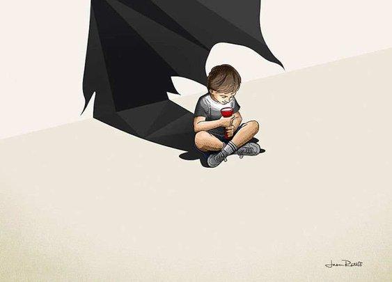 Children's Superheroes Shadows by Jason Ratliff | 2 Illustration Mag