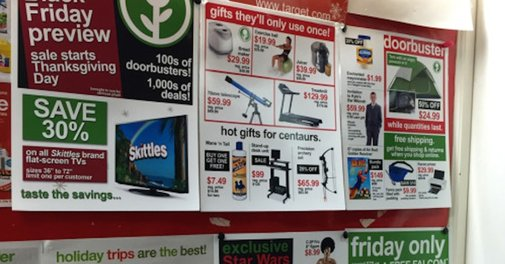 Genius troll plants fake Black Friday sale signs at Target