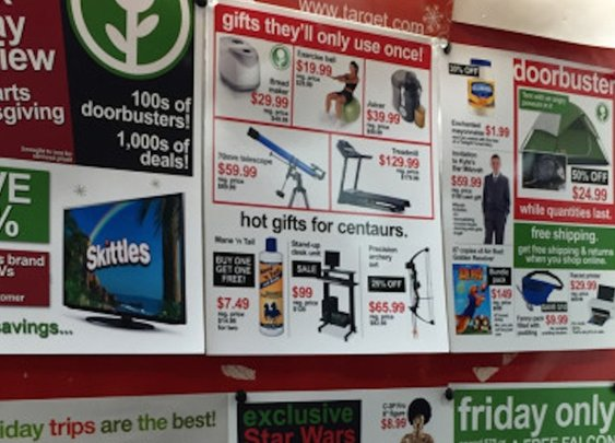 Genius troll plants fake Black Friday sale signs at Target