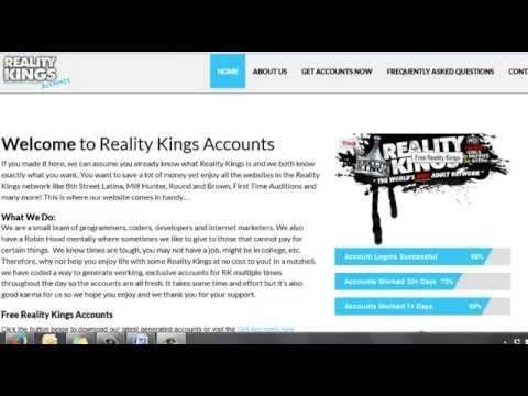 Free Reality Kings Account [Exclusive Logins 12/2015]