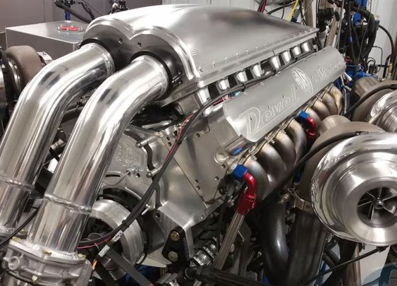 Watch a Ridiculous 12.3-liter Quad-Turbo V-16 Dyno at 5000 Horsepower