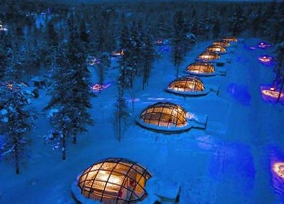 Glass Igloo Lets You Sleep Under the Northern Lights