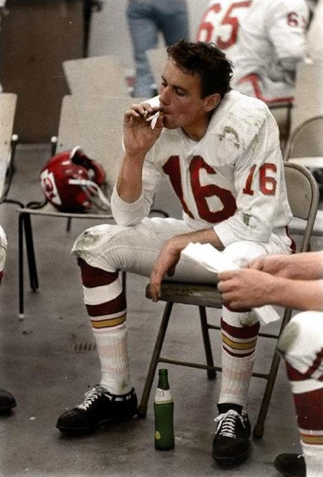 Halftime of the 1967 Super Bowl. Fresca and Cigarettes.