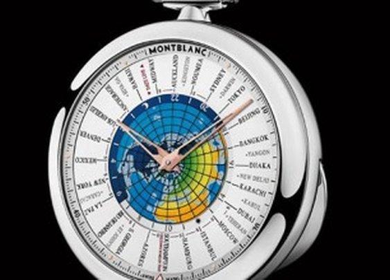 Montblanc 4810 Orbis Terrarum Pocket Watch Transatlantic