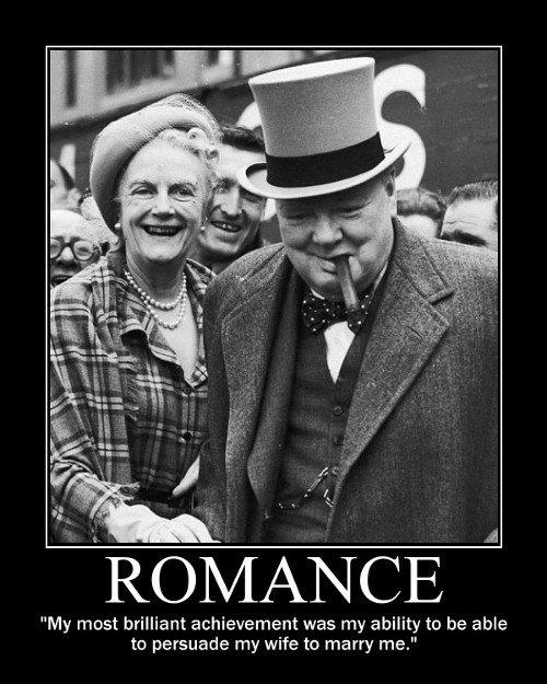 Winston Churchill on Romance