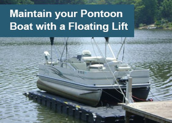Maintaining Pontoon Boats with a Floating Lift - JetDock