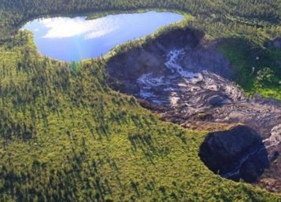 That Lake That Was Going to Fall Off a Cliff in Canada Actually Did  | VICE News