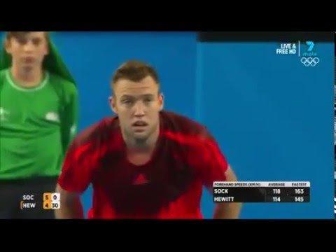 Jack Sock v Leighton Hewitt. Sportsmanship at its absolute best - YouTube