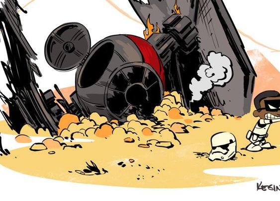 Force Awakens Fan Art in the Style of Calvin & Hobbes