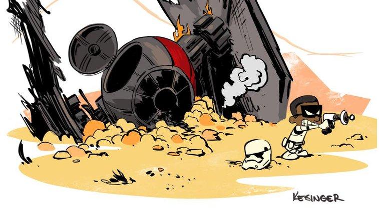 Force Awakens Fan Art in the Style of Calvin & Hobbes