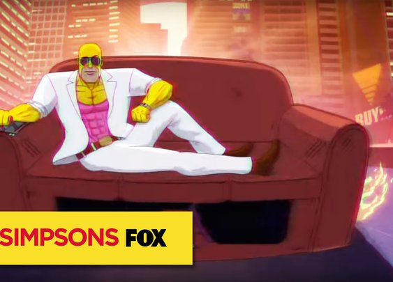 """THE SIMPSONS   Couch Gag from """"Teenage Mutant Milk-Caused Hurdles"""""""