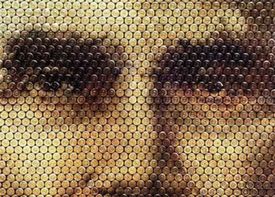 Portraits Made From Bullet Casings