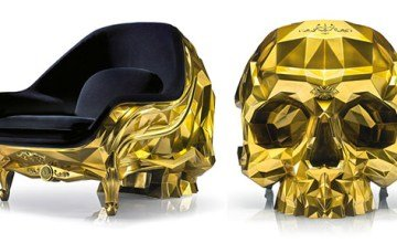 Gold Skull Armchair by Harow Sells For Staggering $500,000