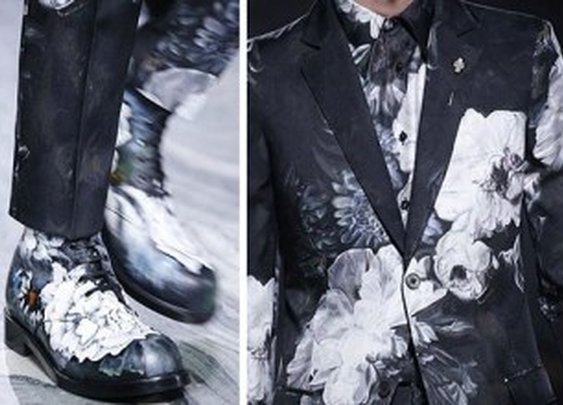 Alexander McQueen Introduces Hand Painted Floral Shoes for Fall