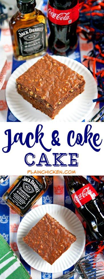 Jack and Coke Cake {Football Friday} | Plain Chicken