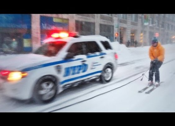 SNOWBOARDING WITH THE NYPD - YouTube