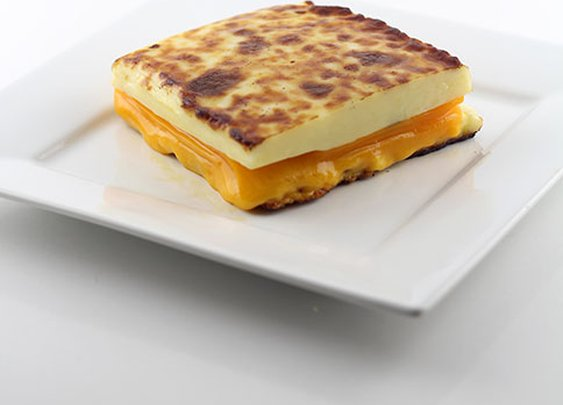 The 100% Cheese Grilled Cheese Sandwich | DudeFoods.com Food Blog & Reviews