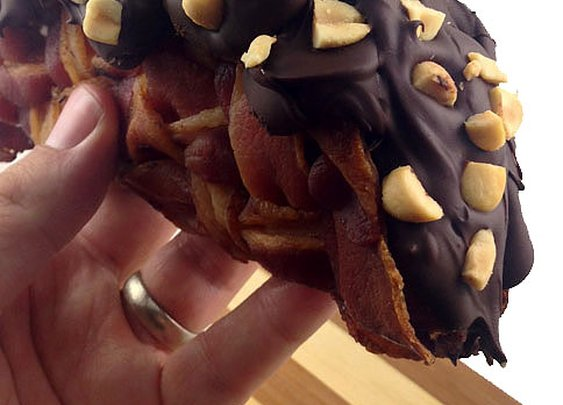 The Bacon Weave Choco Taco | DudeFoods.com Food Blog & Reviews
