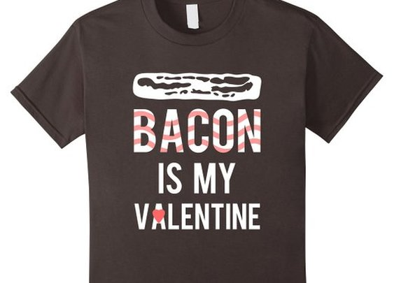 Amazon.com: Bacon is My Valentine Funny T Shirt: Clothing