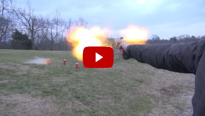 VIDEO: Flame Out With One Handed Shot From 460 Mag! | Outdoor Beasts